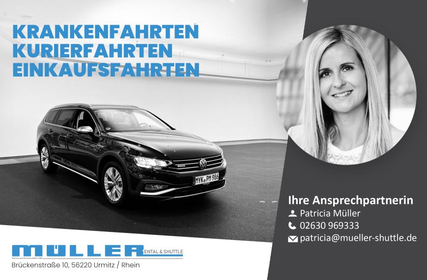 Müller Rental & Shuttle - Krankenfahrten, Kurierfahrten, Einkaufsfahrten